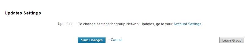 Linkedin groep verlaten