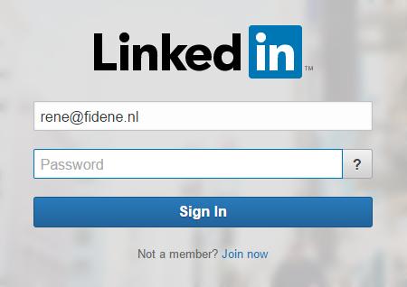 Nederlands als standaard taal in Linkedin