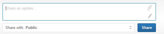 Zelf Linkedin update plaatsen
