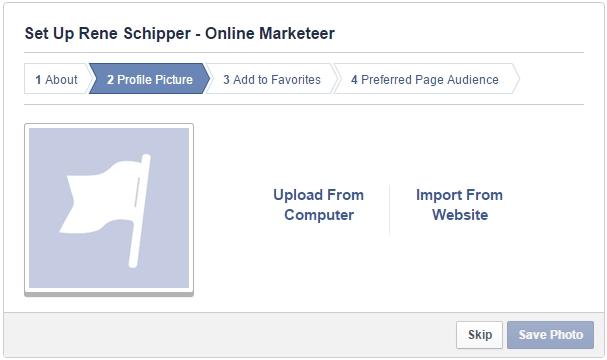 Facebook pagina aanmaken profielfoto toevoegen