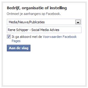 Facebook pagina prive maken