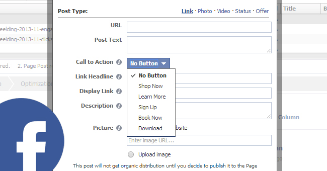 Call to Action (CTA) toevoegen in Facebook update