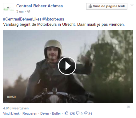 Facebook update met video scoren goed