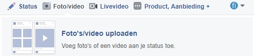 facebook update met video plaatsen