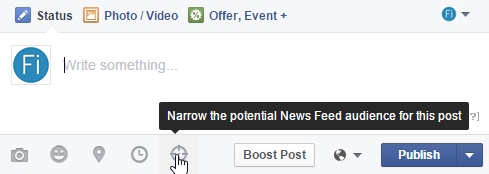 Facebook newsfeed targetting