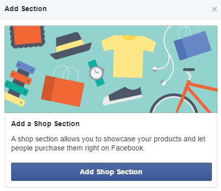 Facebook native webshop