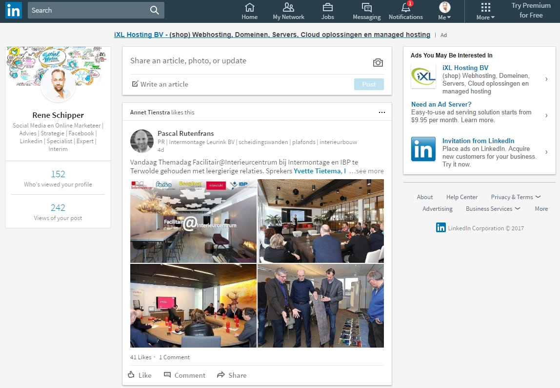 Linkedin nieuw design en layout 2017