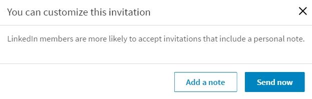 Persoonlijk uitnodigen Linkedin desktop nieuw