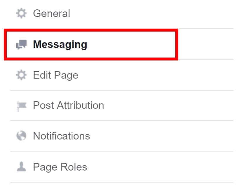 Instellingen Berichten en Messenger functie op de Facebook pagina