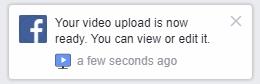 Facebook video klaar om te bewerken