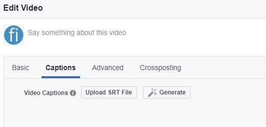 facebook video ondertiteling srt maken