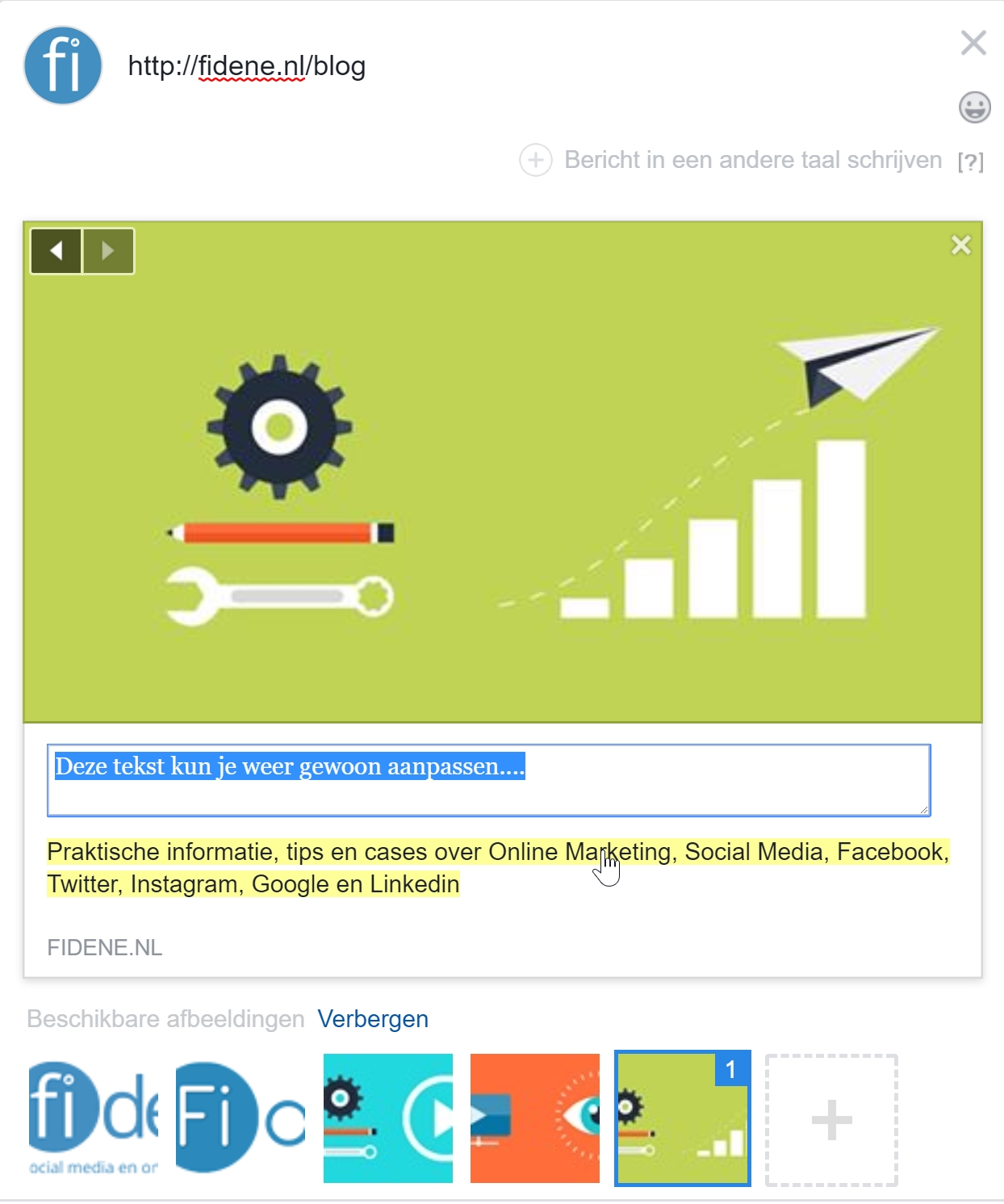 facebook aanpassen link preview