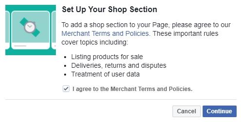 facebook webshop aanmaken voorwaarden
